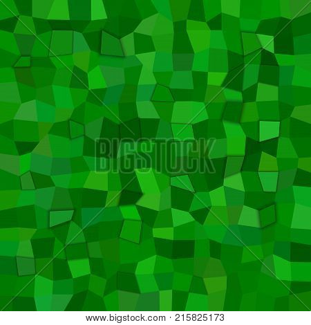 Abstract irregular rectangle mosaic background - polygonal vector design from rectangles in green tones with 3d effect