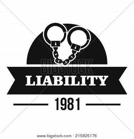 Liability logo. Simple illustration of liability vector logo for web