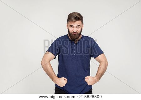 Popeye The Sailor Style. Masculinity Bearded Man Posing