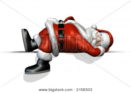 Santa reposant sur une arête