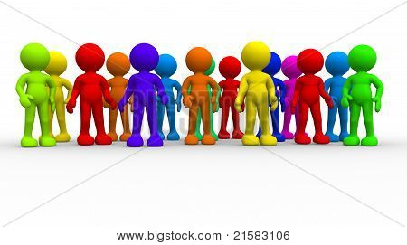 Group Of Different People