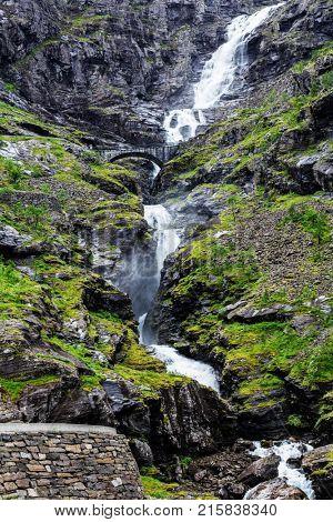 Norway troll road - mountain route of Trollstigen
