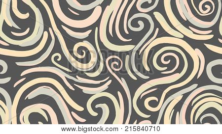 Seamless abstract marble pattern, wood texture, watercolor marble pattern. Ebru style.Gold and pink colors. Hand drawn vector background. Trendy textile, fabric, wrapping. Aqua ink painting on water.