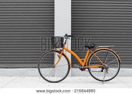 Japanese orange bike.Japanese orange bike.Japanese orange bike.