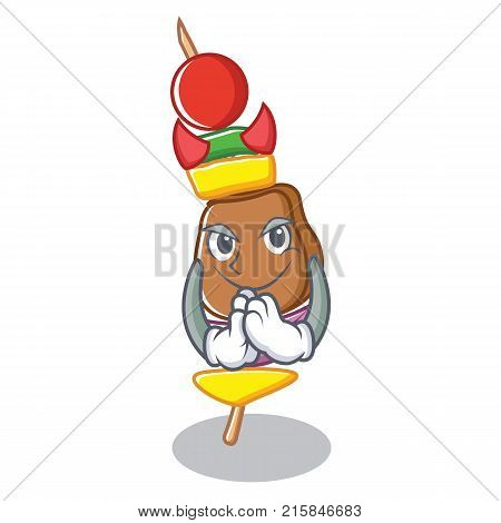 Devil barbecue character cartoon style vector illustration