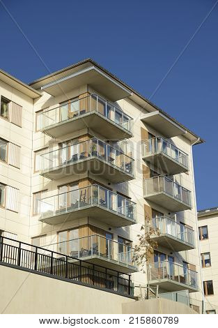 Modern apartment buildings in Stockholm area  - Sweden