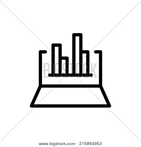 Web analytics line icon. High quality black outline logo for web site design and mobile apps. Vector illustration on a white background.