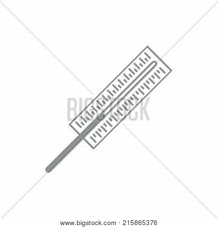 Simple Thermometer Symbol Outline