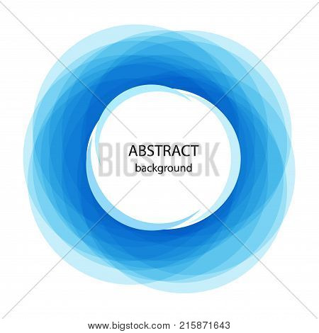 Abstract background with blue circles. Vector illustration abstract banner for web and print.