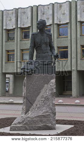 St. Petersburg, Russia - November 2, 2014: Alexei Brusilov Monument to in St. Petersburg