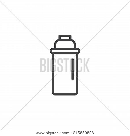 Thermos line icon, outline vector sign, linear style pictogram isolated on white. Cocktail shaker symbol, logo illustration. Editable stroke