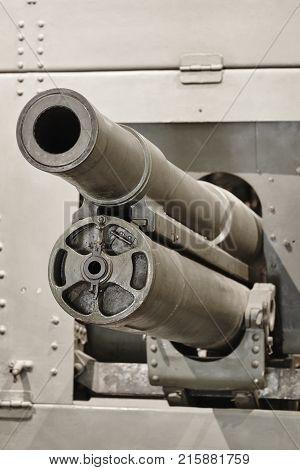 Second war world portable machine gun detail.