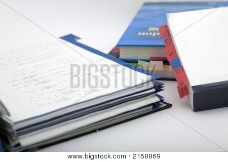 Books And Notes Far Distance