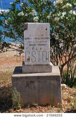 Tarpon Springs plaque, Halki