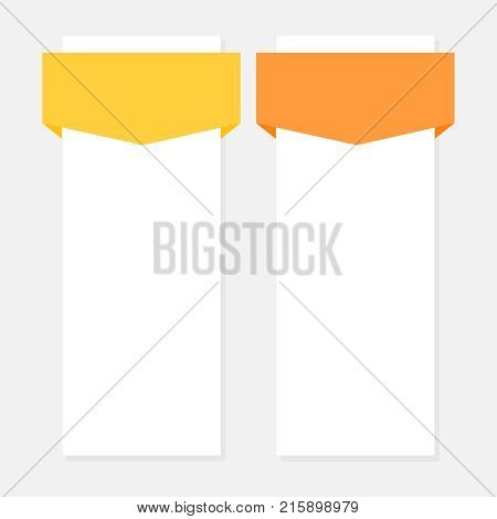 Two options vector infographic element empty template