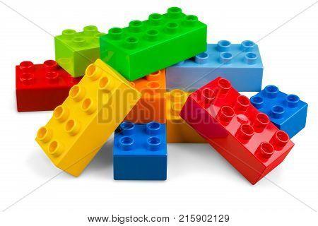 Color colorful plastic toy blocks plastic blocks toy blocks