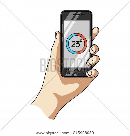 Smartphone, single icon in cartoon style.Smartphone, vector symbol stock illustration .