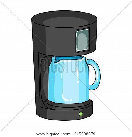 Coffee, cup, single icon in cartoon style.Coffee, cup, vector symbol stock illustration .