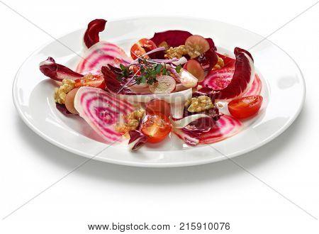 insalata di radicchio rosso con rapa rossa, italian purple red salad