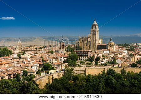 The Segovia Cathedral In Spain