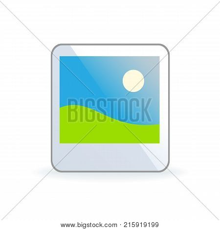 Picture icon isolated on background. Photograph icon. Vector stock.