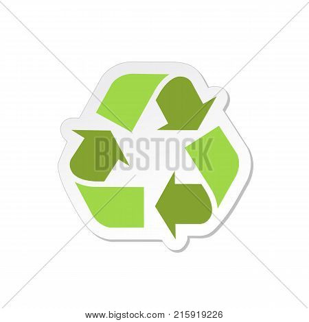 Recycle sign isolated on background. Eco icon. Vector stock.