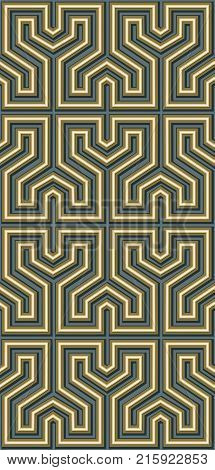 Abstract seamless pattern of straight lines and angles in a maze