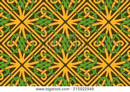 Knotwork squares in celtic style with pagan flavor