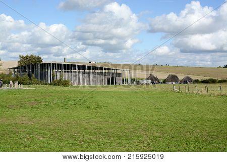 Stonehenge, UK - SEPTEMBER 22, 2017: Stonehenge Visitor Centre, Stonehenge World Heritage Site, Wiltshire, England, United Kingdom