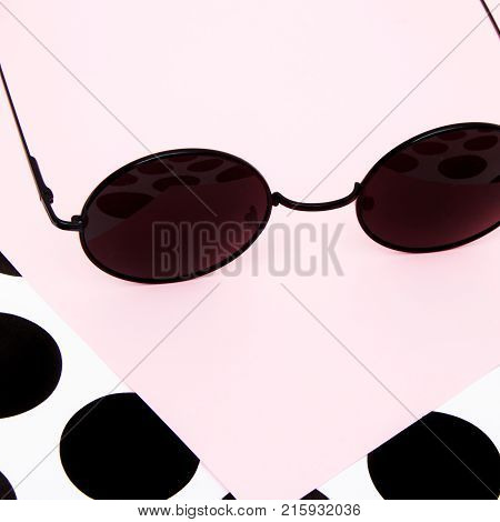 Minimal Style. Minimalist Fashion Photography. Fashion Sunglasses. Summer Is Coming Concept. Black G