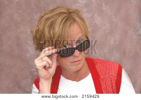 Middle-Aged Woman With Sunglasses