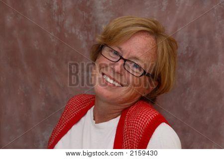 A Portrait Of A Happy Woman