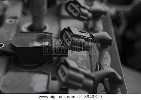 Car repair. Ignition system repair. The old machine.