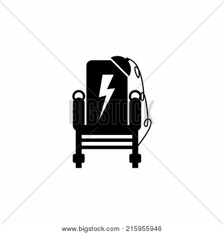execution Electric Chairs icon on white background