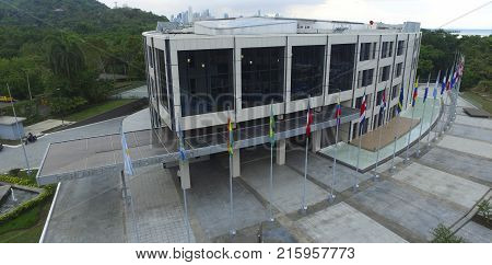 Parliament of Panama, located on the causeway