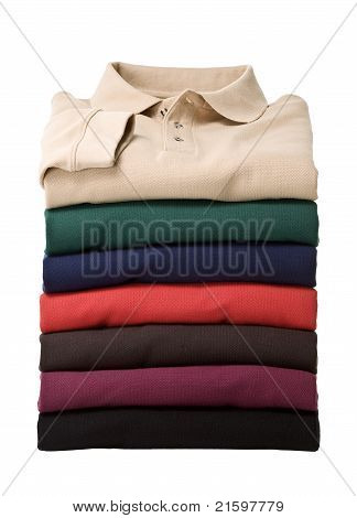 Stack of longsleeve polo-shirts