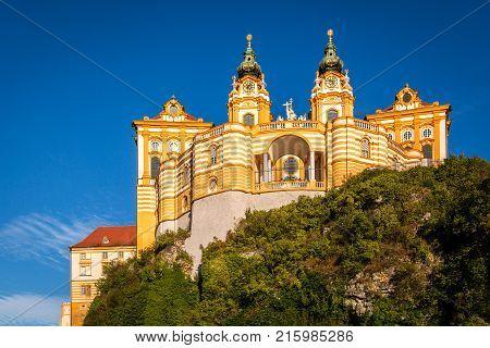 Melk Abbey is a Benedictine abbey above the Austrian town of Melk