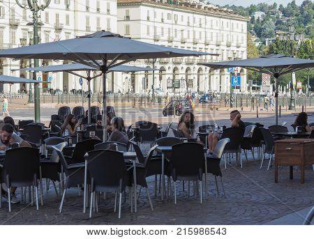 Piazza Vittorio Square In Turin