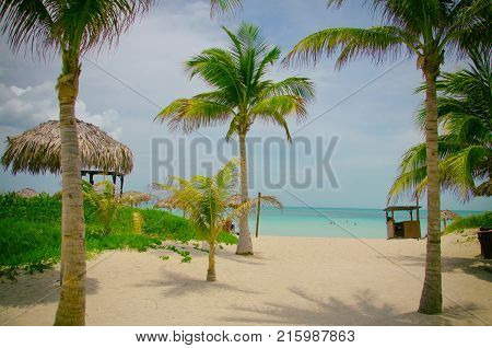 Varadero beach where the blue of the sea is extraordinary