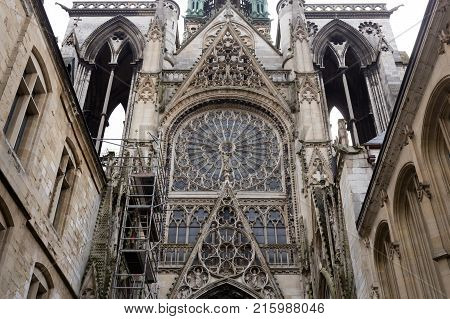 Gothic Notre Dame Cathedral, Rouen, Normandy, France