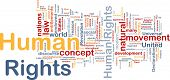 Background concept wordcloud illustration of human rights poster