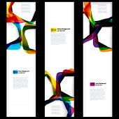 Abstract vertical banner with forms of empty frames for your web design. poster