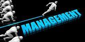 Superior Management Concept with Competitive Advantage 3D Render poster