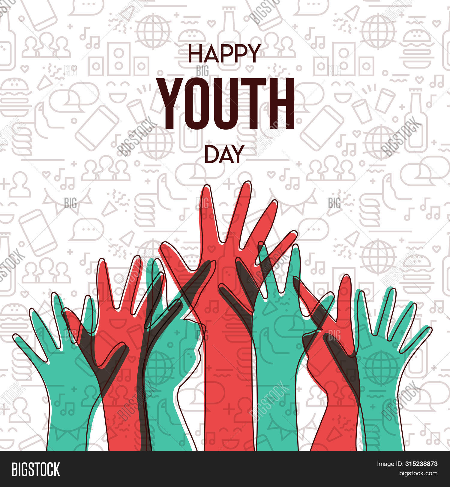 Happy Youth Day Vector Photo Free Trial Bigstock