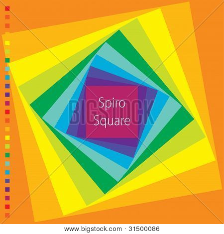 Vector Spirograph Illustration Of Square