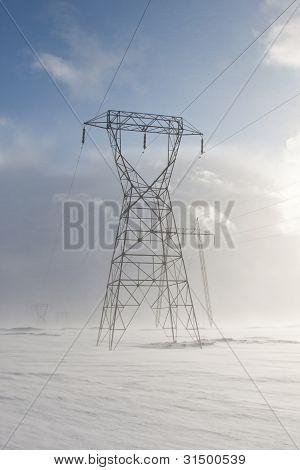 Snowy Pylons
