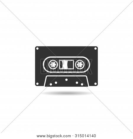 Cassette Icon Flat Vector Isolated On White Background From Music Collection. Cassette Icon Trendy A