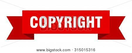 Copyright Ribbon. Copyright Isolated Sign. Copyright Banner