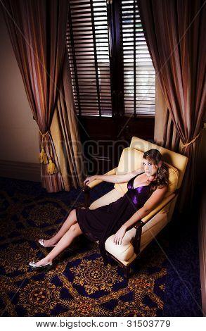 Sexy Female Model In Glamour Fashion