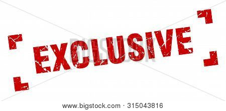 Exclusive Stamp. Exclusive Square Grunge Sign. Exclusive